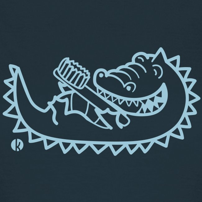 Krokodil mit Zahnbürste - Alligator with