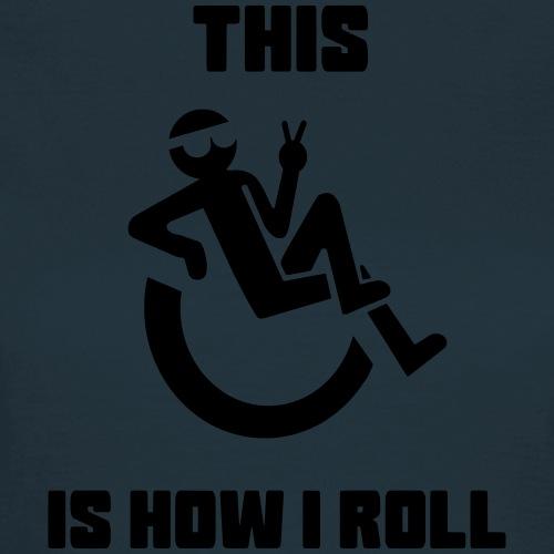 Zo rol ik in mijn rolstoel 012 - Vrouwen T-shirt