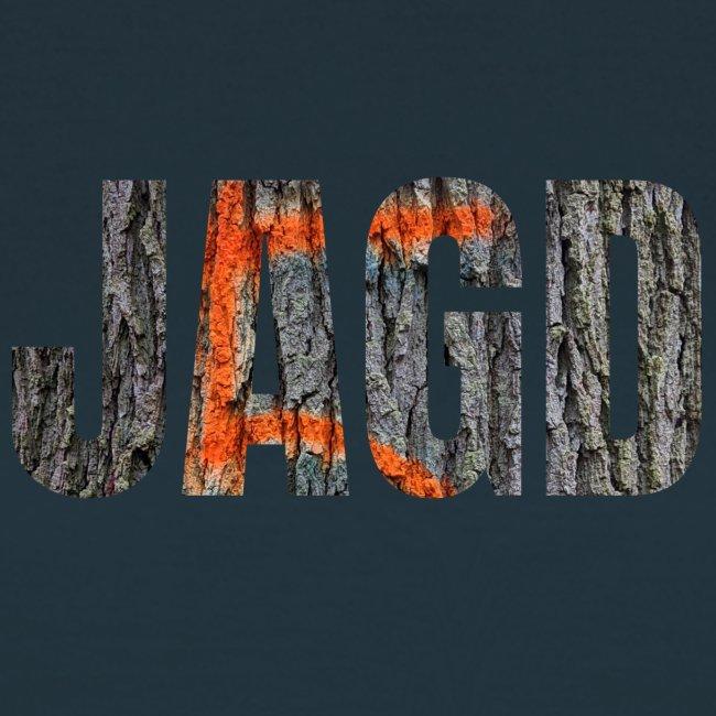 """""""JAGD""""-Shirt für Jäger/innen, Motiv Drückjagdstand"""