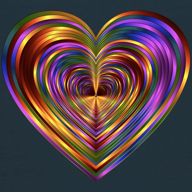 Colorful Love Heart Print T-shirts And Apparel