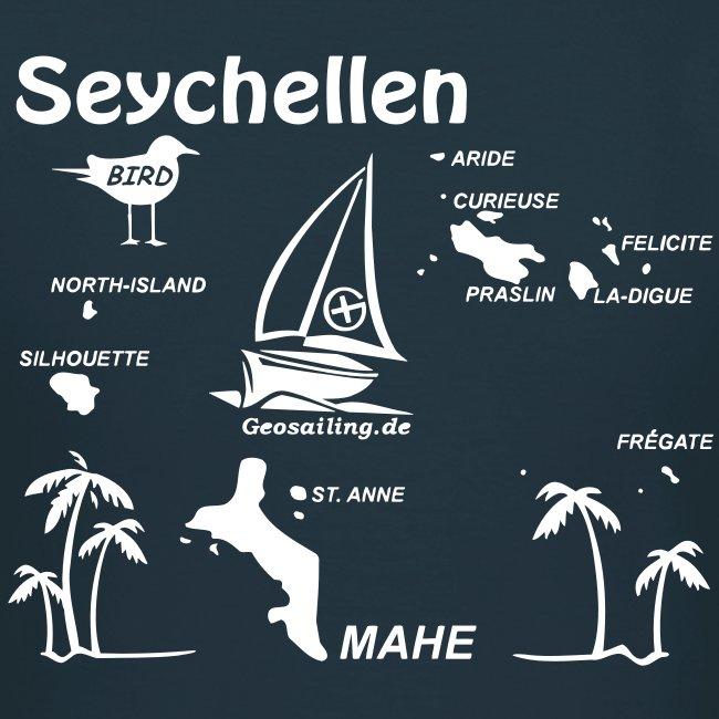Seychellen Insel Crewshirt Mahe etc.