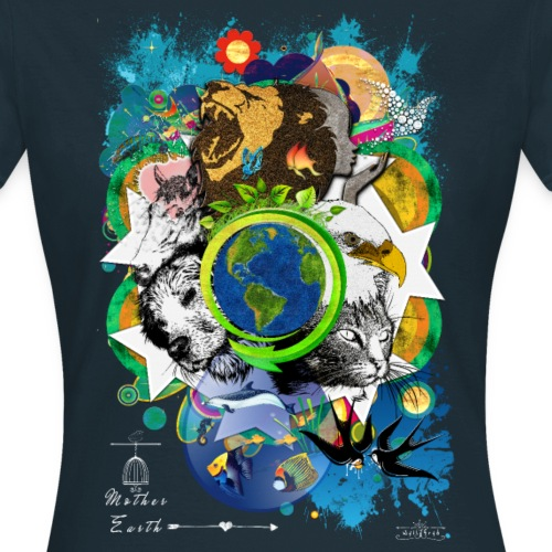 Mother Earth -by- T-shirt chic et choc - T-shirt Femme