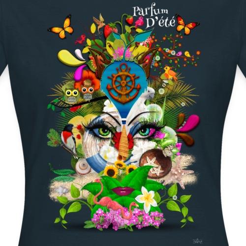 Parfum d'été by T-shirt chic et choc (tissu foncé) - T-shirt Femme