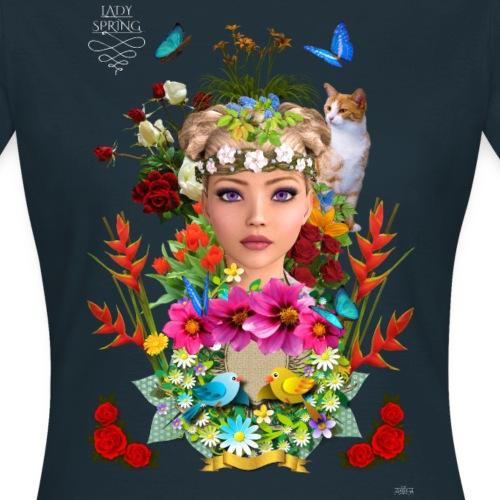 Lady spring by t-shirt chic et choc (dark & black) - T-shirt Femme