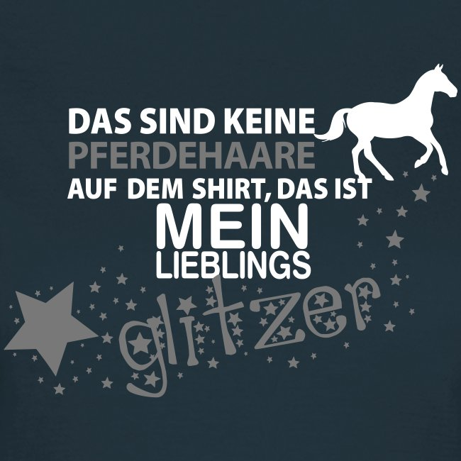 Vorschau: Glitzer Pferd - Frauen T-Shirt