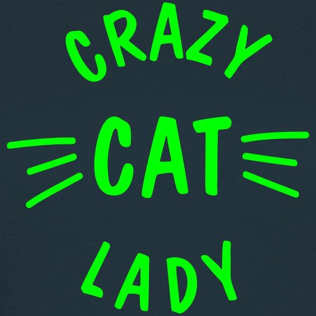 Vorschau: Crazy Cat Lady meow - Frauen T-Shirt