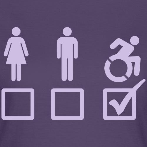 Rolstoel gebruiker is geschikt 001 - Vrouwen T-shirt