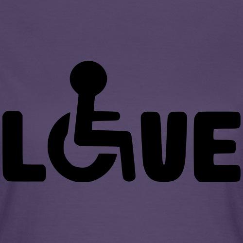 Rolstoel liefde 003 - Vrouwen T-shirt