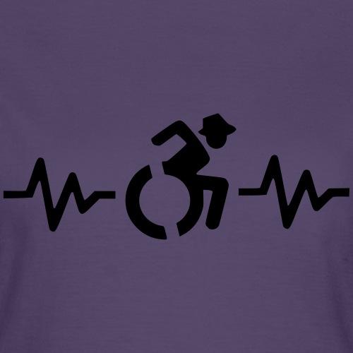 Rolstoel gebruiker met hartslag 001 - Vrouwen T-shirt