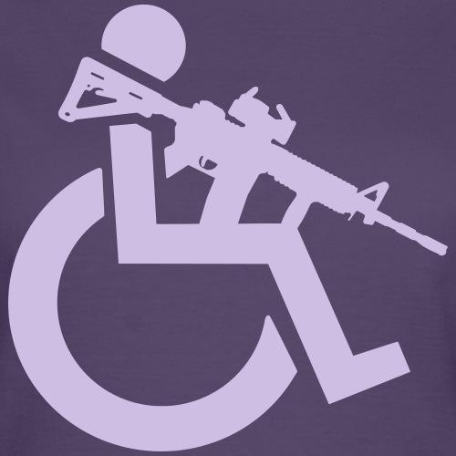 Gewapende rolstoel gebruiker met geweer, wapen - Vrouwen T-shirt