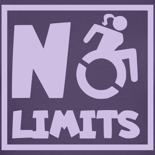 Geen grenzen voor deze dame in rolstoel - Vrouwen T-shirt