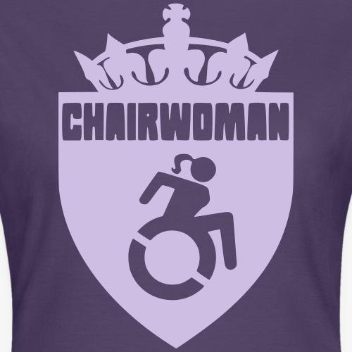Dame in een rolstoel, vrouw in rolstoel, roller - Vrouwen T-shirt