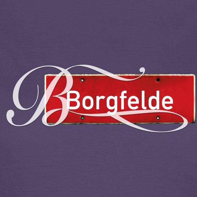 (Hamburg) -Borgfelde Antik-Ortsschild Initial