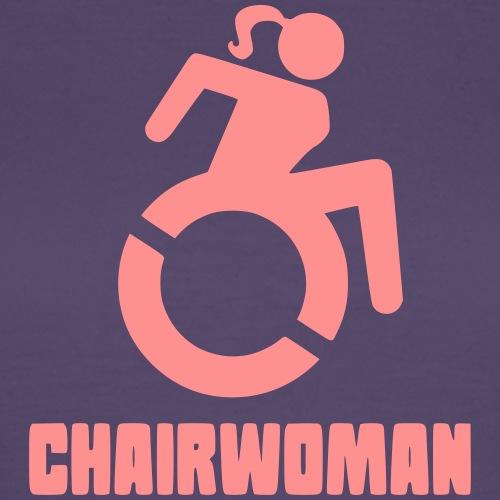 Rolstoel vrouw, chairwoman, dame in rolstoel, roll - Vrouwen T-shirt