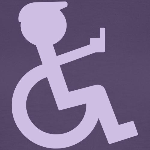 Rolstoel rijder laat middelvinger zien 002 - Vrouwen T-shirt
