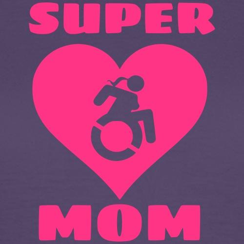 Super mama in rolstoel, moeder in rolstoel, mama - Vrouwen T-shirt