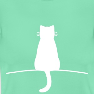 Sitting Cat - Dame-T-shirt