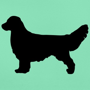 Golden Retriever Silhouette - Dame-T-shirt