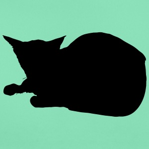 Vector Cat Silhouette - Dame-T-shirt