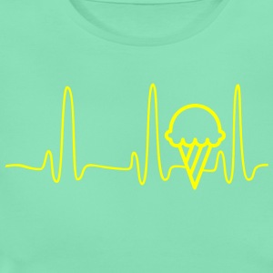 ECG heart line ICE CREAM yellow - Women's T-Shirt