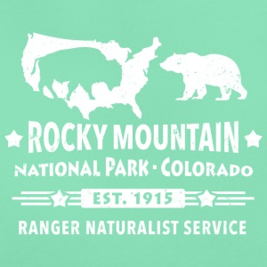 Bison Grizzly Rocky Mountain National Park Berg - T-shirt dam