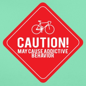 Bicycle: Caution! May cause addictive behavior. - Women's T-Shirt