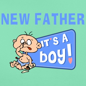 New Father It's A Boy (PERSONALIZE ADD DATE} - Women's T-Shirt