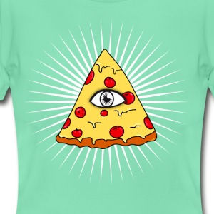 illuminati pizza eye lit fast food love f - Women's T-Shirt