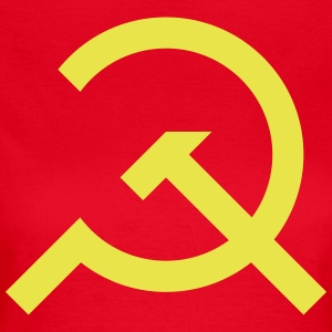 Hammer and Sickle Communist Design - Women's T-Shirt