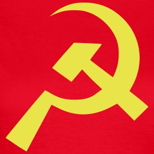 Kommunist Hammer Sickle Flag - T-skjorte for kvinner
