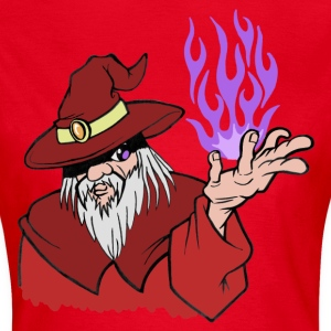 Willpower Wizard Red / Purple Flame - No Text - Women's T-Shirt