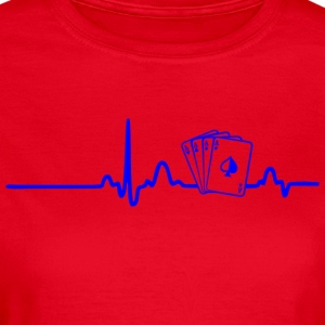 EKG HERZLINIE POKER PLAYER blau - Frauen T-Shirt