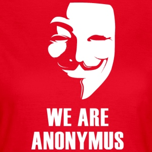 anonymus mask anti Demo politically white.Face - Women's T-Shirt