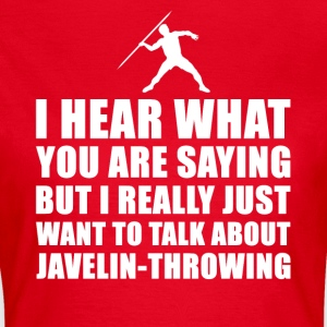 Funny Javelin Throw gaveide - T-skjorte for kvinner
