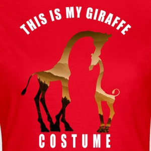 costume giraffe love Neck Animal Carnival Humor LOL - Women's T-Shirt