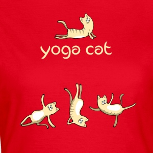 Cat yoga cat cute namaste humor funny LOL - Women's T-Shirt
