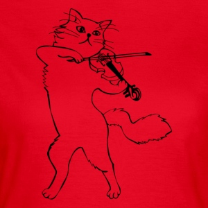 Cat as a violinist - Women's T-Shirt