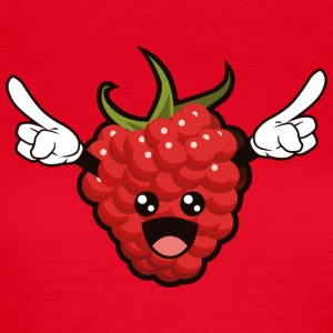 Cartoon Raspberry - T-skjorte for kvinner