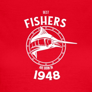 Present for fishers born in 1948 - Women's T-Shirt
