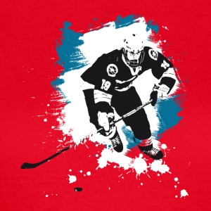 hockey puck hockey player attack polar bears sharks - Women's T-Shirt