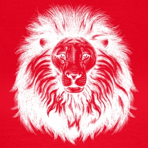 lion with big hair white - Women's T-Shirt