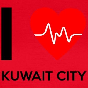 I Love Kuwait City - Jeg elsker Kuwait City - Dame-T-shirt