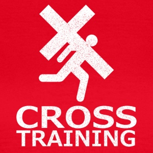 """Cross Training"" (sarkasme) - T-skjorte for kvinner"