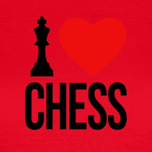 I LOVE CHESS - Dame-T-shirt