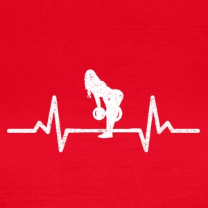 MY HEART BEATS FOR THE PUMP! (GYM WOMAN!) - Women's T-Shirt