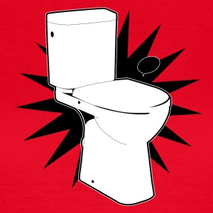 Vector toilet (toilet Super) - Dame-T-shirt