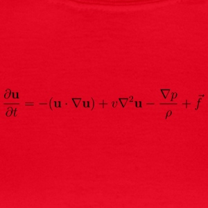 Fluid Dynamics ekvation. - T-shirt dam