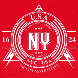 New York City Badge - T-shirt Femme