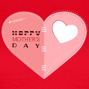 happy mother s day heart with heart - Women's T-Shirt
