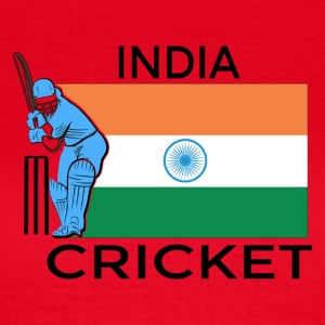 India Cricket Player Flag - Women's T-Shirt